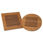 Totally Bamboo Bamboo 2 Piece Lattice Trivet Set