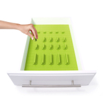 KMN Home DrawerDecor Lime Customizable Drawer Organizer 21 Piece Deluxe Starter Kit