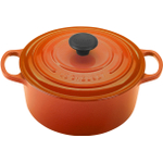 Le Creuset Signature Flame Enameled Cast Iron Round French Oven, 4.5 Quart