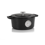 "RAILWAY Dutch Oven w/Thermometer 24cm/9.5"" Black"