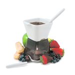 Swissmar Deco Charcoal 7 Piece Chocolate Fondue Set