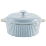 Typhoon Blue Stoneware Large Vintage Casserole with Lid