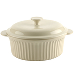 Typhoon Cream Stoneware Large Vintage Casserole with Lid