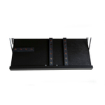 The Drop Block (Black) Ebony Stain 18 x 9.5 Inch Magnetic Knife Storage Unit
