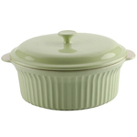 Typhoon Green Stoneware Large Vintage Casserole with Lid