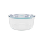 Click Clack Glass Round Cook and Store 1.7 Quart Covered Container