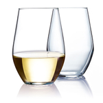 Luminarc Concerto Glass 11.5 Ounce Stemless Wine Tumbler, Set of 4