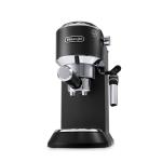 DeLonghi Dedica DeLuxe Black Manual Espresso and Cappuccino Machine