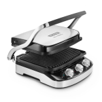 DeLonghi Livenza Black Stainless Steel 5-in-1 Indoor Electric Grill, Griddle, and Panini Press