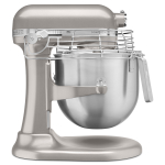 KitchenAid KSMC895NP Commercial Series Nickel Pearl 8 Quart Bowl Lift Stand Mixer with Stainless Steel Bowl Guard