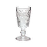 Antique Design Glass 13.5 Ounce Drinking Goblet, Set of 4