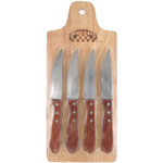 Set Of 4 Steakhouse Knives and Cutting Board