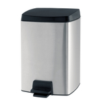 Brabantia Matte Steel 2 Gallon Rectangular Pedal Waste Bin
