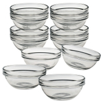 Luminarc Glass 3.5 Inch Stackable Round Bowl, Set of 12
