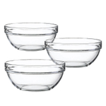 Luminarc Glass 6.5 Inch Stackable Round Bowl, Set of 6