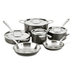 All Clad LTD 3-Ply Stainless Steel and Hard-Anodized 10 Piece Cookware Set