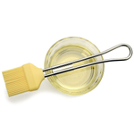 Yellow Silicone Pastry Brush With Stainless Steel Handle