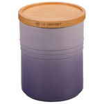Le Creuset Provence Enameled Stoneware 22 Ounce Canister with Wood Lid