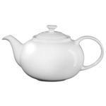 Le Creuset White Enameled Stoneware 1.4 Quart Traditional Teapot