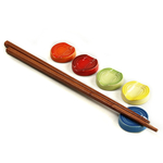 Le Creuset Multi Color Stoneware Chopstick Rest, Set of 5