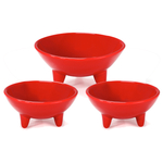 Chantal True Red 3 Piece 12 and 6 Ounce Molecajete Bowl Set