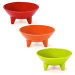 Chantal 3 Piece Fiesta Colored 6 Ounce Molecajete Bowl Set