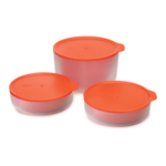 Joseph Joseph M-Cuisine Orange 3 Piece Microwave Bowl Set