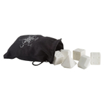 Trudeau Dice and Diamond Ceramic Chillers with Storage Bag