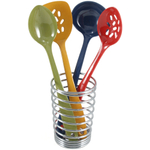 Boing Modern Design Chrome Kitchen Utensil Crock Stand Spring
