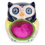 Boston Warehouse Earthenware Artsy Owl Scrubby Holder