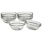 Luminarc Glass 3 Inch Stackable Round Bowl, Set of 6