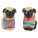 Boston Warehouse Earthenware Pugly Sweater Salt and Pepper Set
