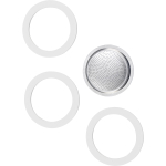 Bialetti Stainless Steel Filter and Gasket Set for 6 Cup Stovetop Espresso Maker