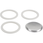 Bialetti Filter and Gasket Set for 9 Cup Stovetop Espresso Maker