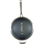 Bialetti Ceramic Pro Gray Ceramic 11 Inch Covered Saute Pan