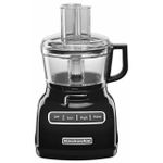 KitchenAid KFP0722OB Onyx Black 7 Cup Food Processor with ExactSlice System