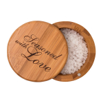 Totally Bamboo Bamboo 3.5 Inch Seasoned With Love Salt Box