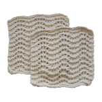 Toockies Organic Cotton Knit Wave Scrub Cloth, Set of 2