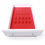 KMN Home Red DrawerDecor 16-Piece Starter Kit