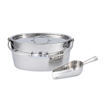 CraftHouse by Fortessa Stainless Steel Oval Ice Bucket with Scoop