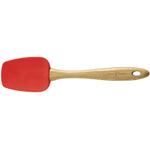 Island Bamboo Red Silicone Scraper, 12 Inch