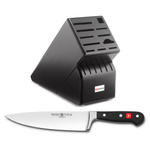 Wusthof Blackwood 17-Slot Knife Block with Classic High Carbon Stainless Steel 8 Inch Cook's Knife
