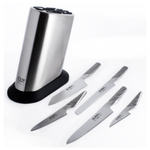 Global Classic Stainless Steel 6 Piece Knife Block Set