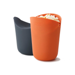 Joseph Joseph M-Cuisine Orange and Grey Silicone Single Serve Microwave Popcorn Maker, Set of 2