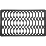 Entryways Recycled Rubber 18 x 30 Inch Trellis Doormat