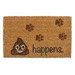 Entryways It Happens Non-Slip Coir 17 x 30 Inch Doormat
