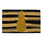 Entryways Golden Pineapple Non-Slip Coir 17 x 30 Inch Doormat
