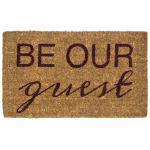 Entryways Handwoven Coconut Fiber 18 x 30 Inch Be Our Guest Doormat