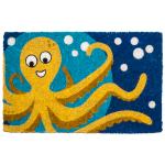 Entryways Handwoven Coconut Fiber 18 x 30 Inch Octopus Doormat