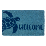 Entryways Handwoven Coconut Fiber 18 x 30 Inch Turtle Doormat
